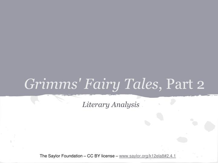Grimms fairy tales part 2