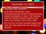 december 13 2013