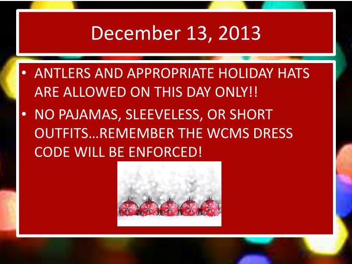 December 13, 2013