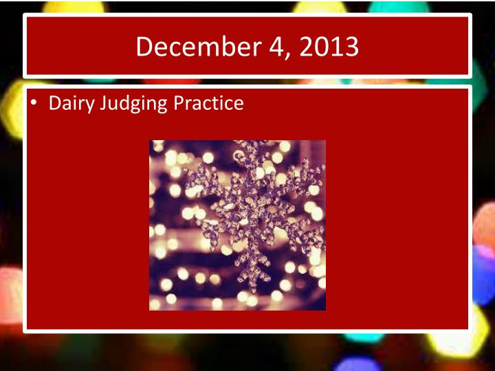 December 4, 2013