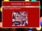 december 4 2013