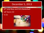 december 5 20131