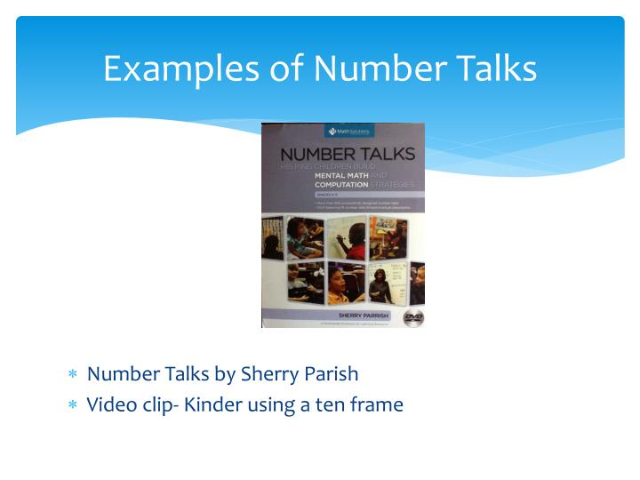 Examples of Number Talks