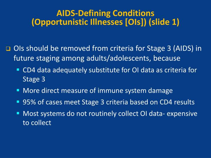 AIDS-Defining Conditions