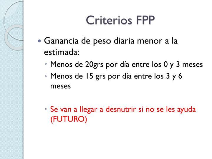 Criterios FPP
