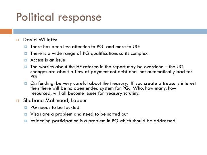 Political response