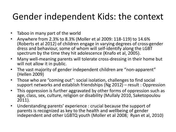 Gender independent Kids: the