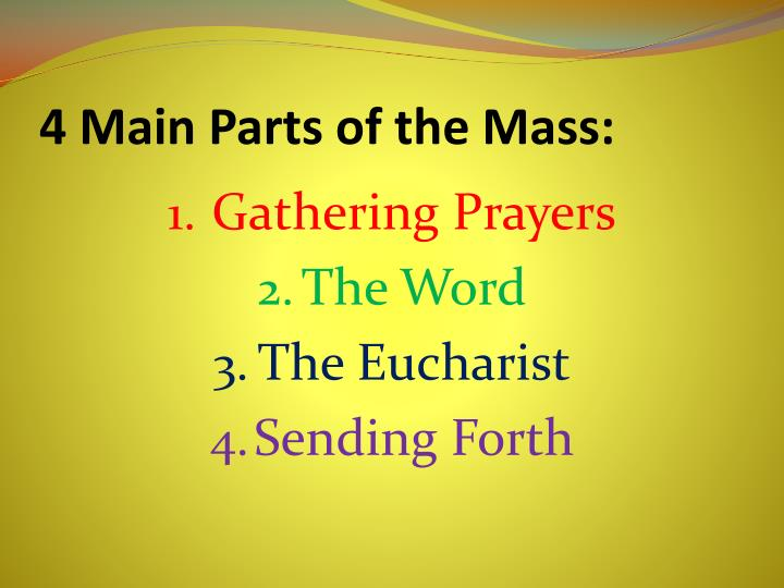 4 Main Parts of the Mass: