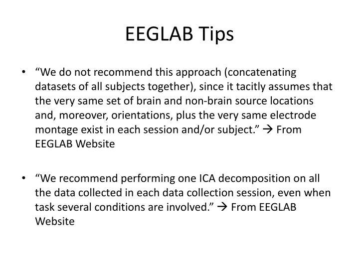 EEGLAB Tips