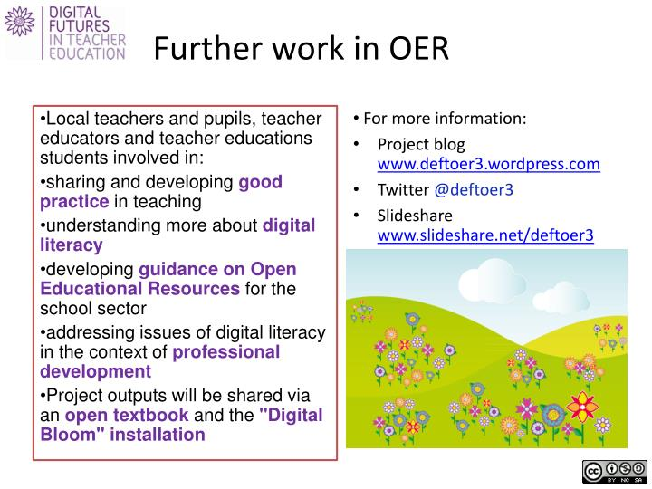 Further work in OER