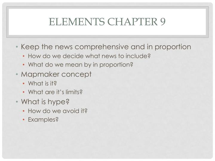Elements Chapter 9