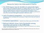 reasons for leaks in the stem academic pipeline2