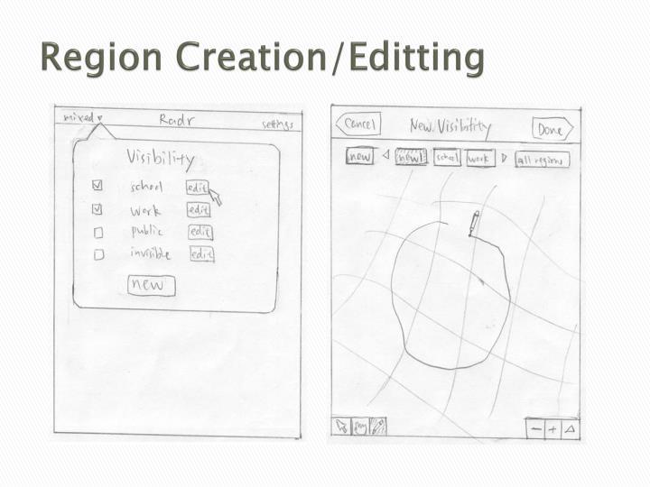Region Creation/