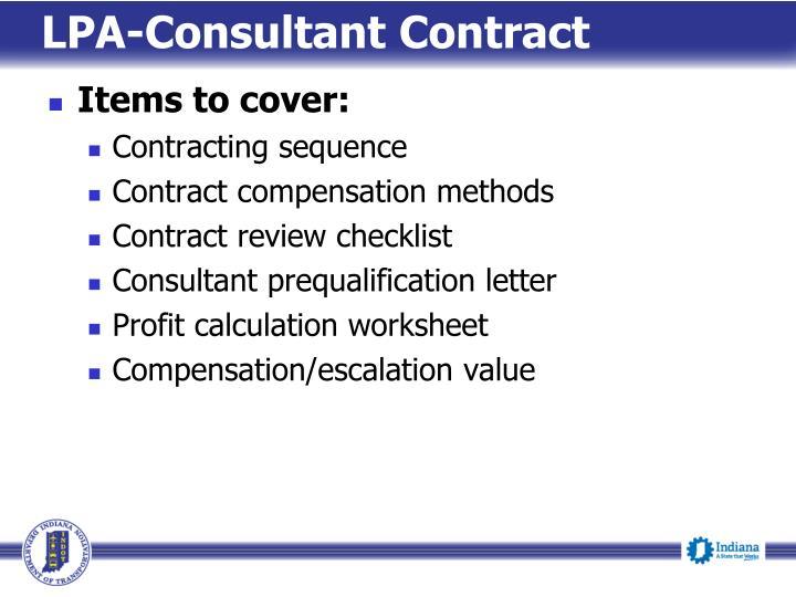 LPA-Consultant Contract