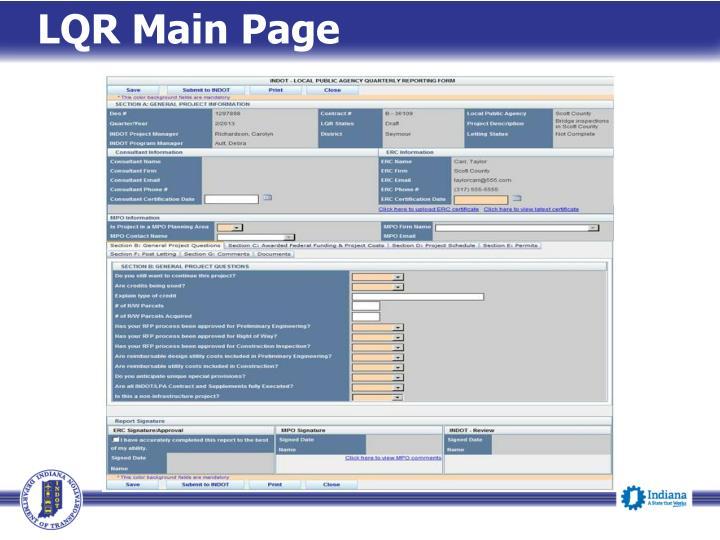 LQR Main Page