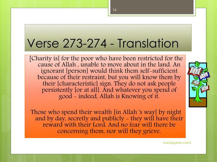 Verse 273-274 -