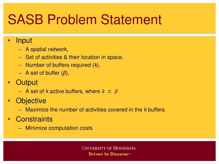 SASB Problem Statement
