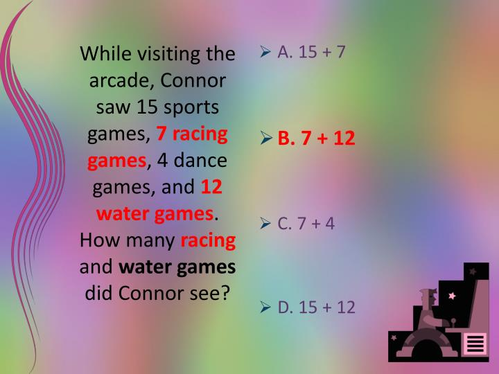 While visiting the arcade, Connor saw 15 sports games,