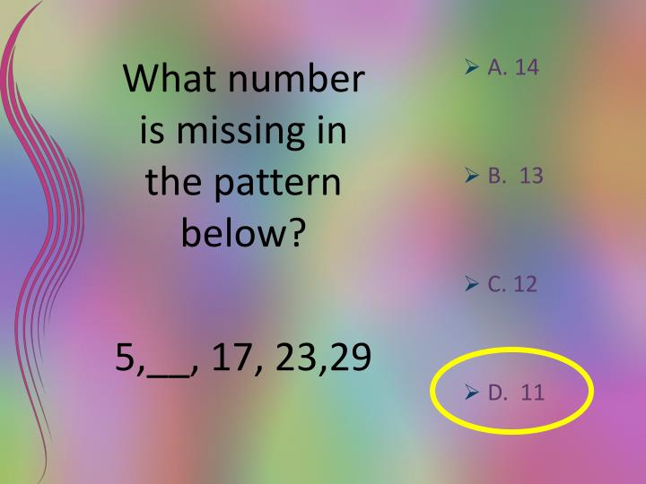 What number is missing in the pattern below?
