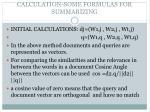 calculation some formulas for summarizing
