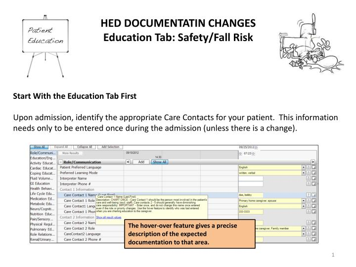 HED DOCUMENTATIN CHANGES