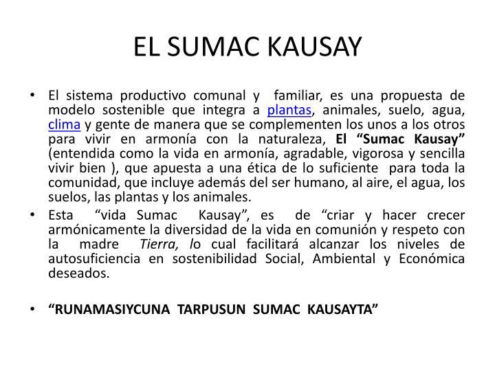 EL SUMAC KAUSAY
