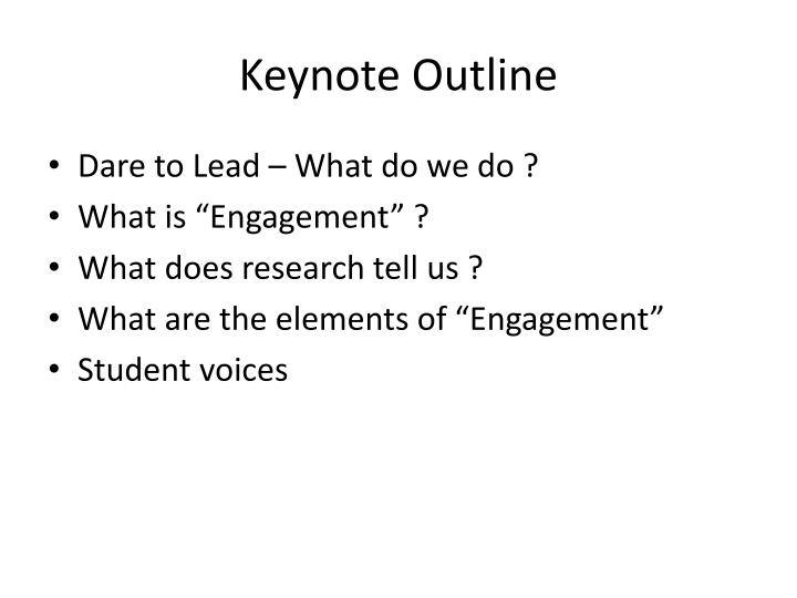 Keynote Outline