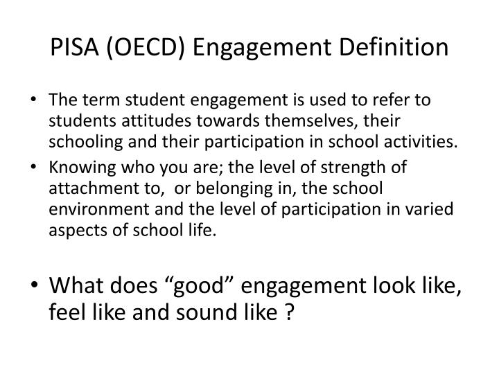 PISA (OECD) Engagement Definition