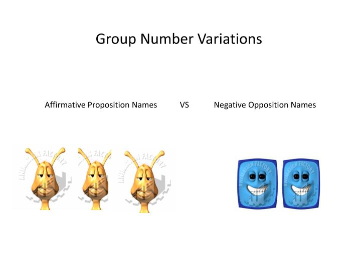 Group Number Variations