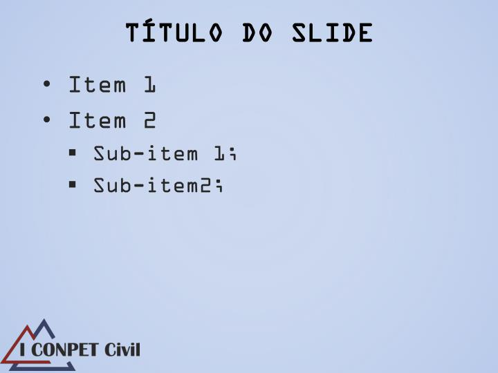 T tulo do slide