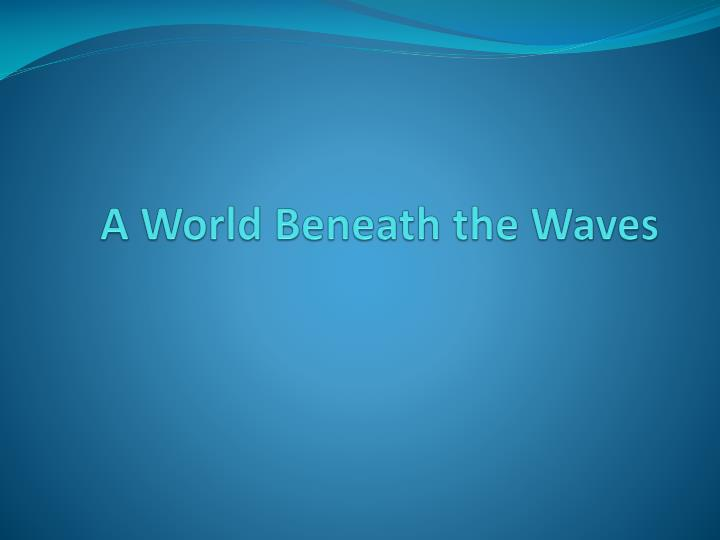 A World Beneath the Waves