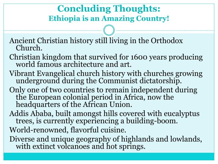 Concluding Thoughts: