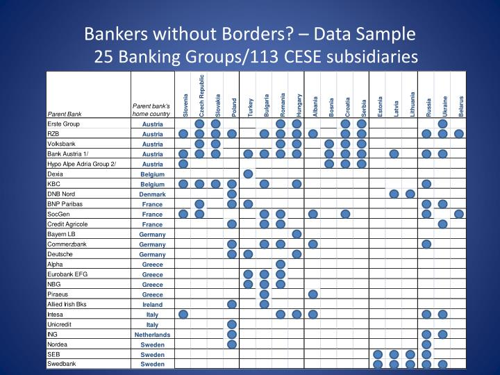 Bankers without Borders? – Data Sample