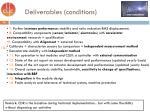 deliverables conditions