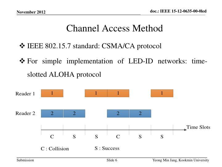 IEEE 802.15.7 standard: