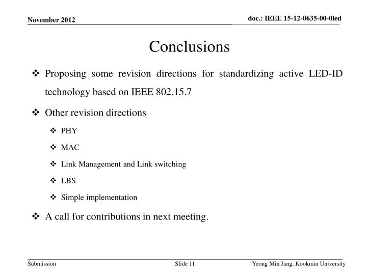 Proposing some revision directions for standardizing active LED-ID technology based on IEEE 802.15.7