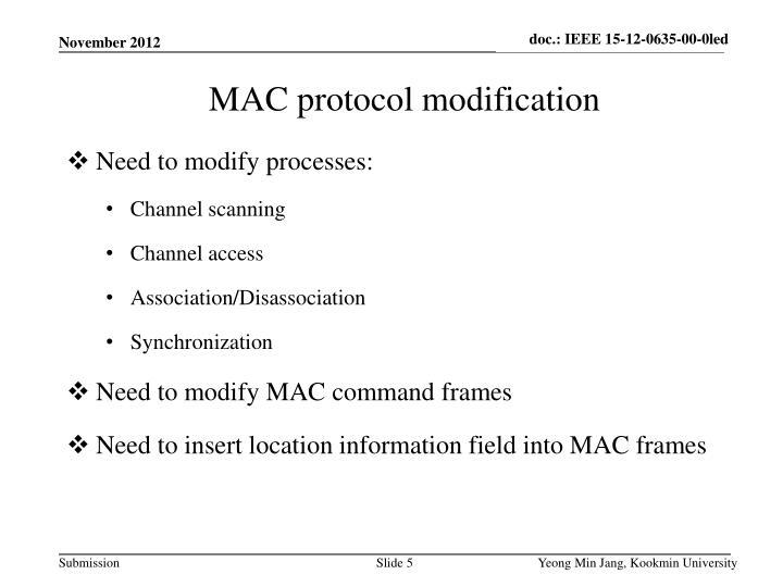 Need to modify processes: