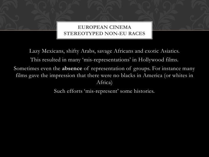 European Cinema stereotyped non-
