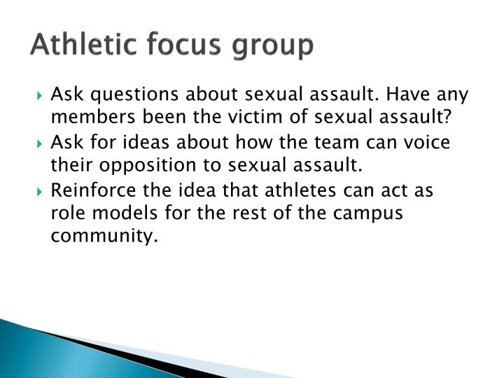 Athletic focus group