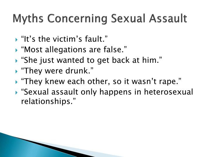 Myths Concerning Sexual Assault