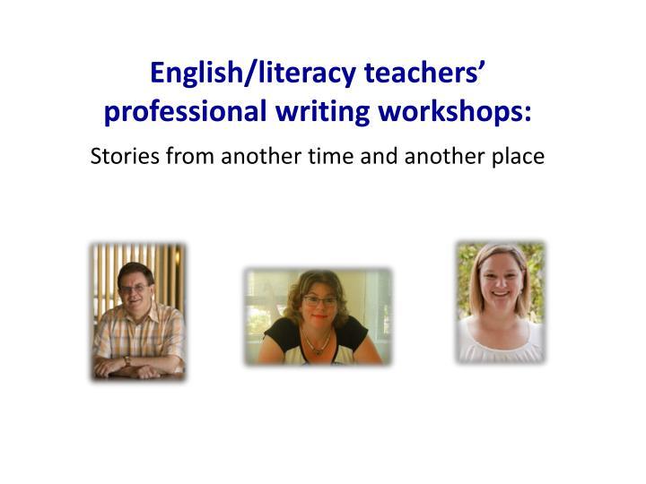 English/literacy teachers