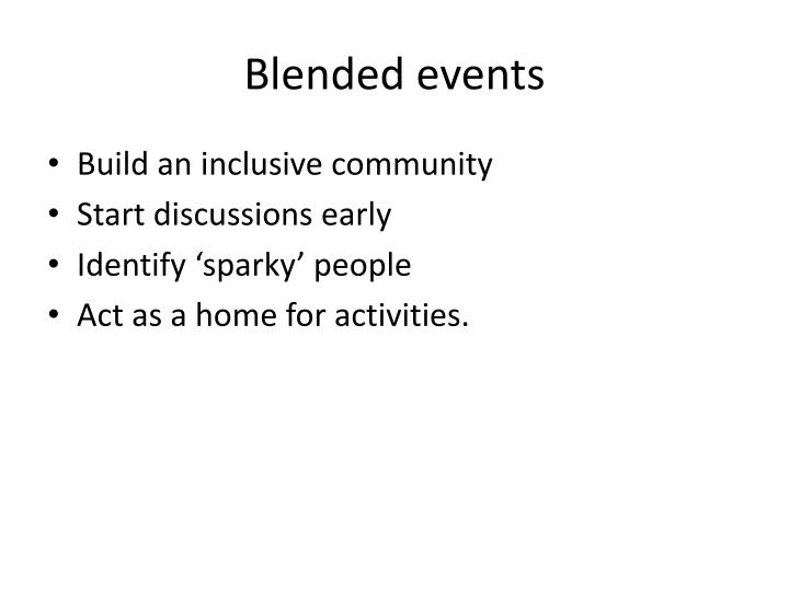 Blended events