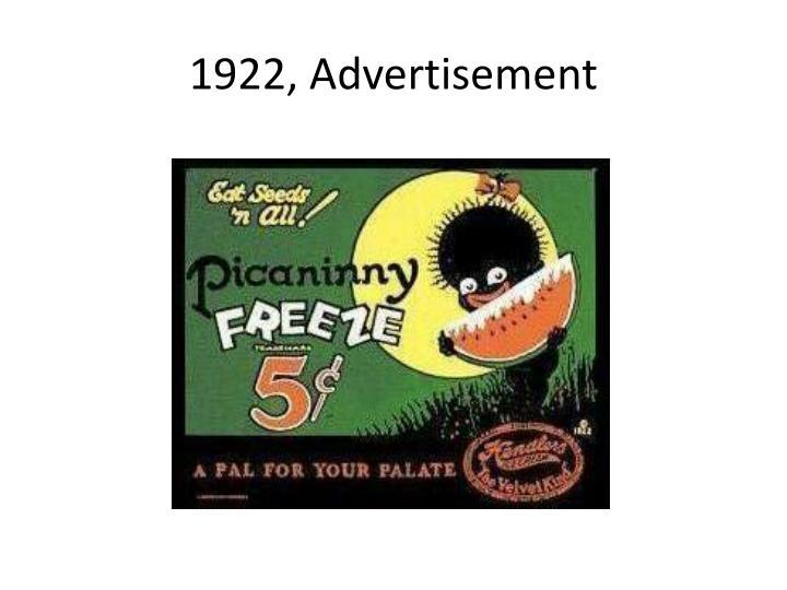 1922, Advertisement