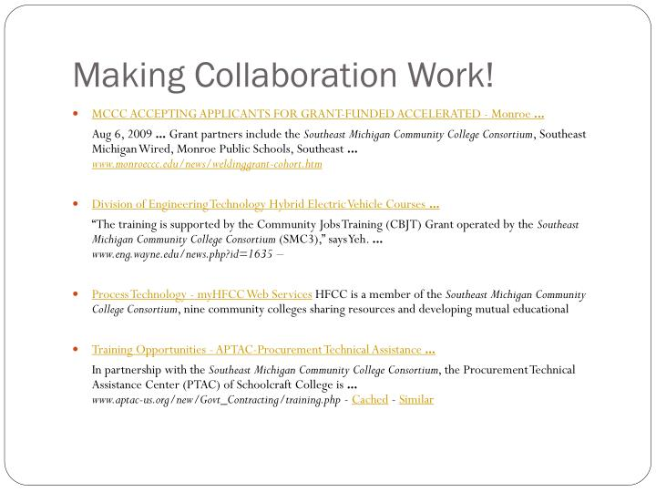 Making Collaboration Work!