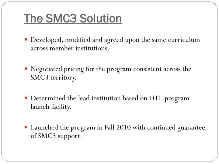 The SMC3 Solution