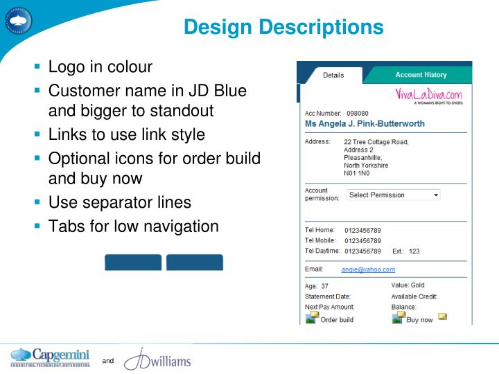 Design Descriptions