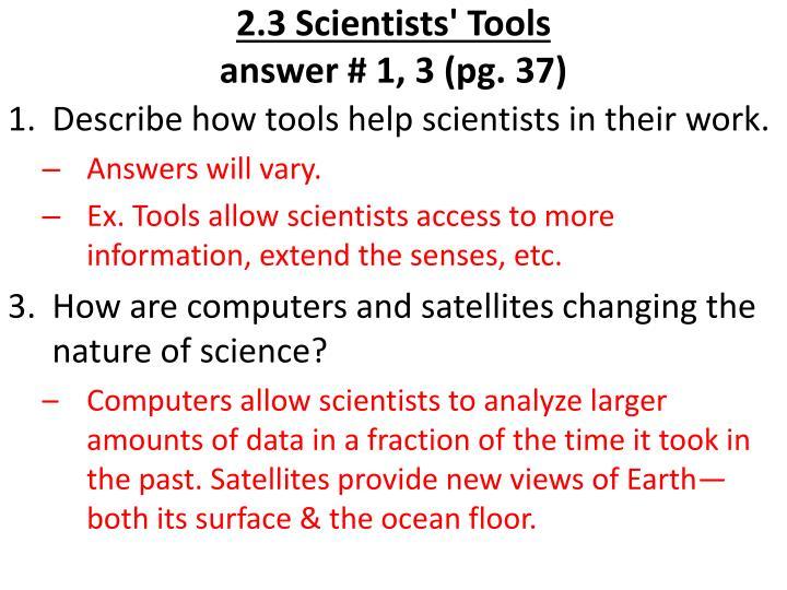 2.3 Scientists' Tools