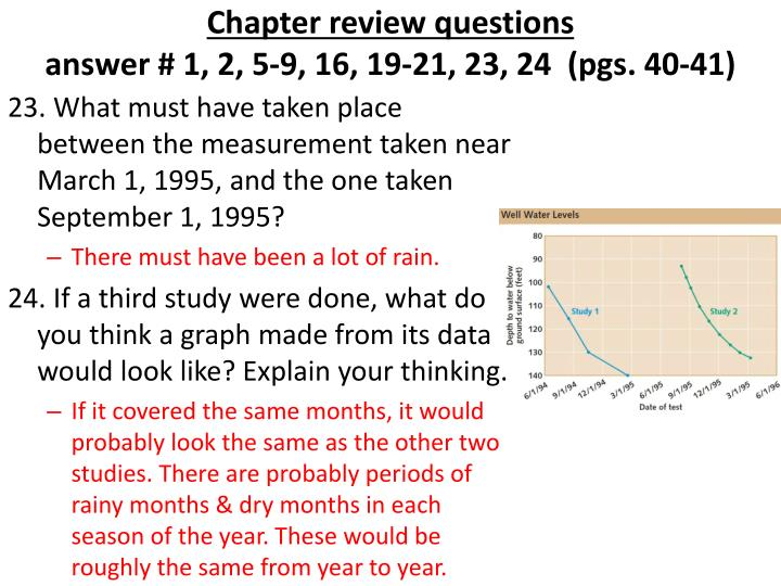 Chapter review questions