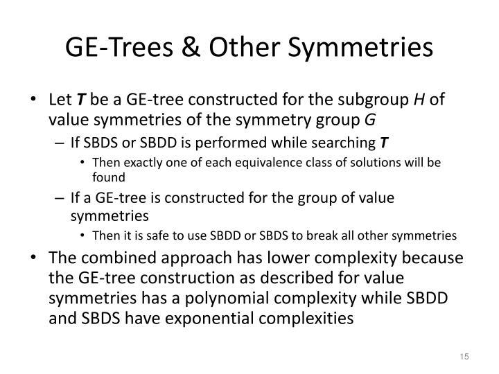 GE-Trees & Other Symmetries