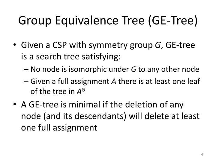 Group Equivalence Tree (GE-Tree)
